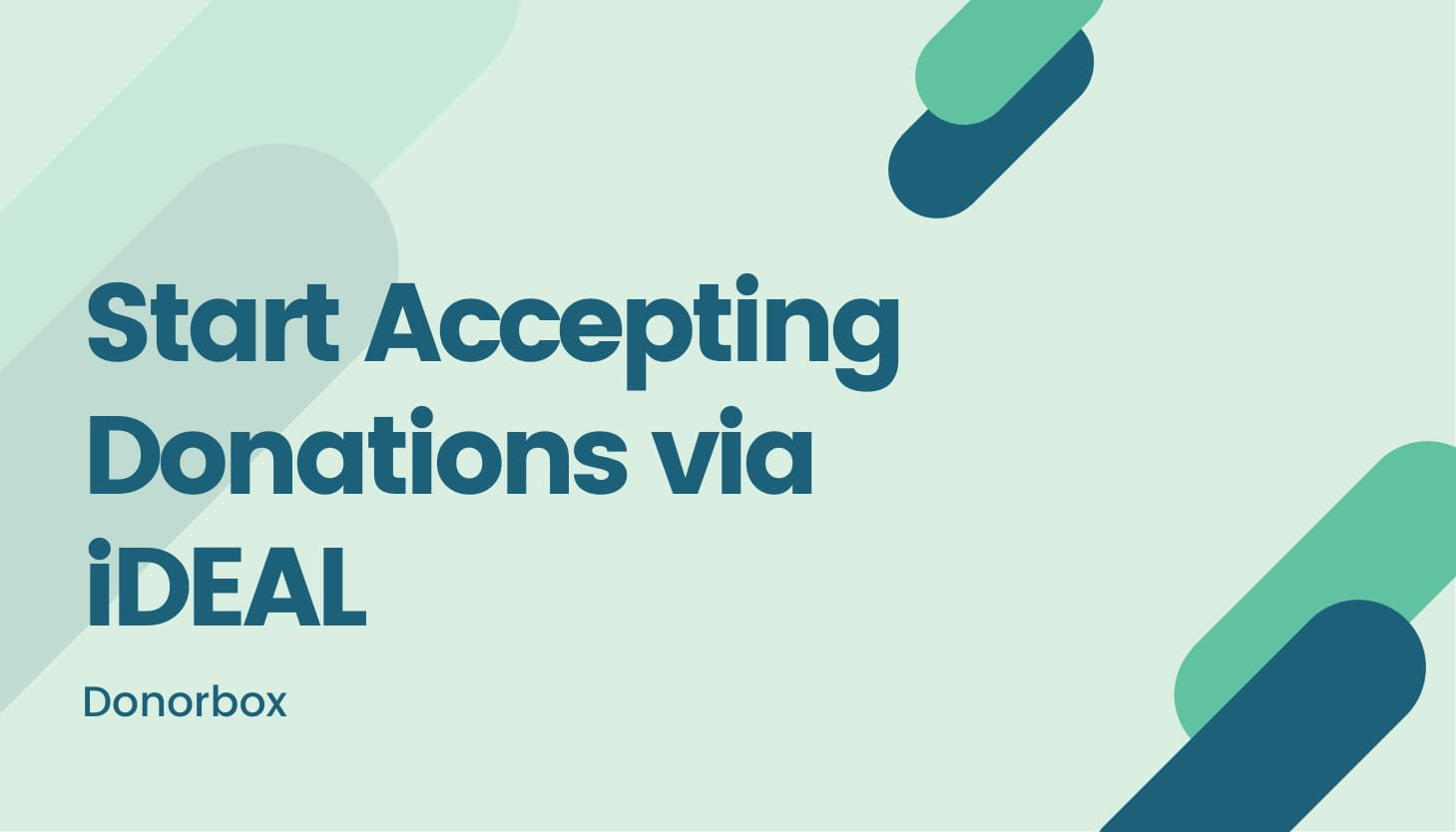 New Feature: Accepting Donations via iDEAL
